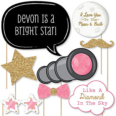 Pink Twinkle Twinkle Little Star   20 Piece Photo Booth Props Kit