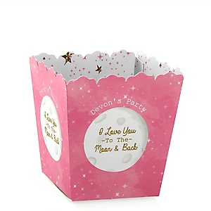 Pink Twinkle Twinkle Little Star - Party Mini Favor Boxes - Personalized Party Treat Candy Boxes - Set of 12