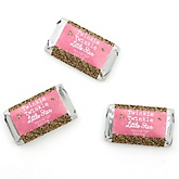 Pink Twinkle Twinkle Little Star - Personalized Party Mini Candy Bar Wrapper Favors - 20 ct