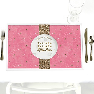 Pink Twinkle Twinkle Little Star - Personalized Party Placemats
