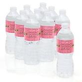 Pink Twinkle Twinkle Little Star - Personalized Party Water Bottle Sticker Labels - Set of 10