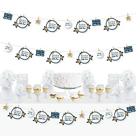 Twinkle Twinkle Little Star - Baby Shower or Birthday Party DIY Decorations - Clothespin Garland Banner - 44 Pieces