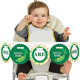Double the Fun - Twins Two Peas In A Pod 1st Birthday - I am One - First Birthday High Chair Banner