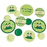 Twins Two Peas in a Pod - Personalized Baby Shower or Birthday Party Giant Circle Confetti - Twins Party Decorations - Large Confetti 27 Count