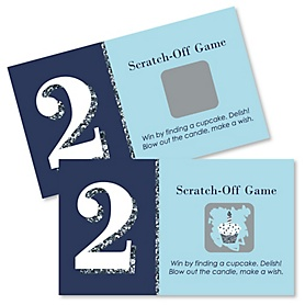 Two Much Fun - Boy - Birthday Party Game Scratch Off Cards - 22 ct