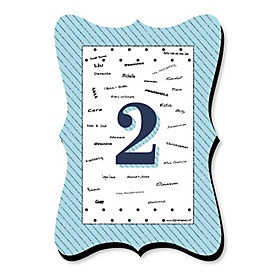 Two Much Fun - Boy - Unique Alternative Guest Book - 2nd Birthday Party Signature Mat