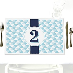 Two Much Fun - Boy - Party Table Decorations - Birthday Party Placemats - Set of 12