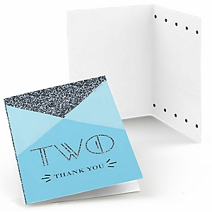 Two Much Fun - Boy - Birthday Party Thank You Cards - 8 ct