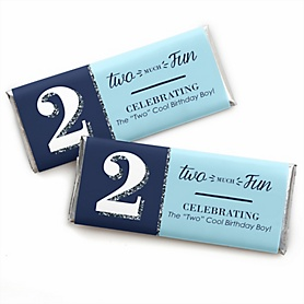Two Much Fun - Boy -  Candy Bar Wrappers Birthday Party Favors - Set of 24
