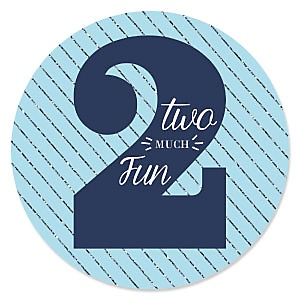 Two Much Fun - Boy - Second Birthday Party Theme