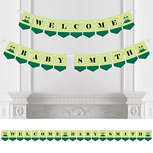 Twins Two Peas in a Pod - Personalized Baby Shower Bunting Banner & Decorations