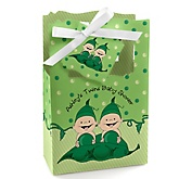 Twins Two Peas in a Pod - Personalized Baby Shower Favor Boxes