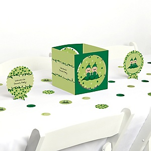 Twins Two Peas in a Pod - Girl Baby Shower or Birthday Party Centerpiece & Table Decoration Kit