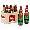 Ugly Sweater - Holiday & Christmas - 6 Beer Bottle Label Stickers and 1 Carrier