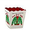 Ugly Sweater - Party Mini Favor Boxes - Personalized Holiday & Christmas Party Treat Candy Boxes - Set of 12