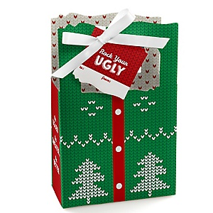 Ugly Sweater - Holiday & Christmas Party Gift Boxes - Set of 12
