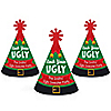 Ugly Sweater - Personalized Mini Cone Holiday & Christmas Party Hats - Small Party Hats – Set of 10