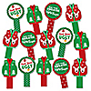 Ugly Sweater - Holiday & Christmas Party Paddle Photo Booth Props – Selfie Photo Booth Props – Set of 14