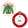 Ugly Sweater - Holiday & Christmas To and From Favor Gift Tags - Set of 20
