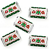 Ugly Sweater - Mini Candy Bar Wrapper Stickers - Holiday and Christmas Party Small Favors - 40 Count