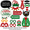 Ugly Sweater - Holiday & Christmas Party Photo Booth Props Kit – 20 Count
