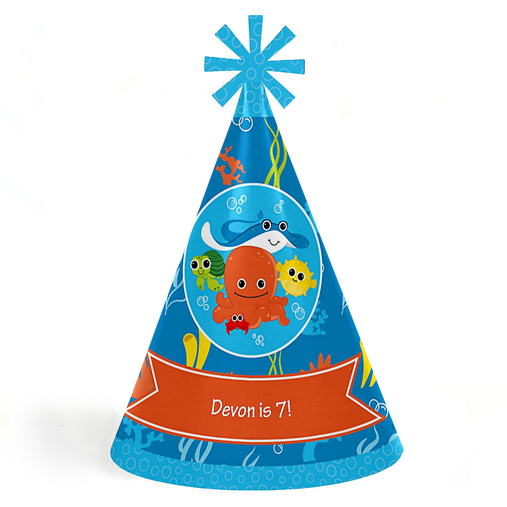 Personalized Cone Happy Birthday Party Hats For Kids And Adults Double Tap To Zoom
