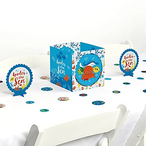Under The Sea Critters - Baby Shower or Birthday Party Centerpiece and Table Decoration Kit