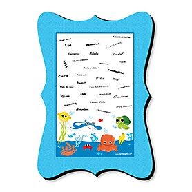 Under The Sea Critters - Unique Alternative Guest Book - Birthday Party or Baby Shower Signature Mat