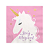 Unicorn with Gold Foil - Magical Rainbow Unicorn Baby Shower or Birthday Party Cocktail Beverage Napkins - 16 ct