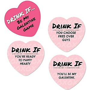 Be My Galentine - Drink If Valentine's Day Party Game - Set of 24