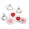Valentine's Day Conversation Hearts - Round Candy Valentine's Day Labels Party Favors - Fits Hershey's Kisses - 108 ct