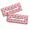 Valentine's Day - Personalized Candy Bar Wrappers Valentine's Day Favors - Set of 24