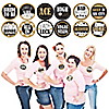 Vegas Before Vows - Las Vegas Bridal Shower or Bachelorette Party Name Tags - Party Badges Sticker Set of 12