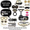 Vegas Before Vows - 20 Piece Las Vegas Bridal Shower or Bachelorette Party Photo Booth Props Kit