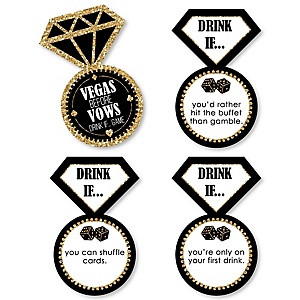 Drink If... Vegas Before Vows Bachelorette Party Game - Set of 24