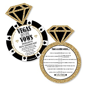 Vegas Before Vows - Selfie Scavenger Hunt - Las Vegas Bachelorette Party Game - Set of 12