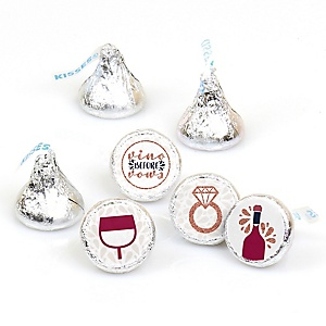 Vino Before Vows - Round Candy Labels Winery Bridal Shower or Bachelorette Party Favors - Fits Hershey's Kisses - 108 ct