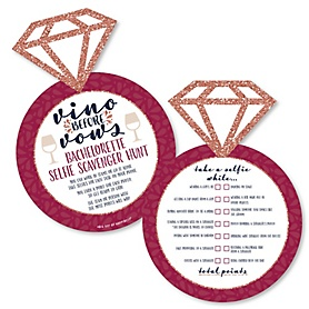Vino Before Vows - Selfie Scavenger Hunt - Winery Bachelorette Party Game - Set of 12
