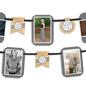 Bump, Set, Spike - Volleyball - Party Photo Garland Banners