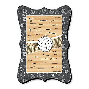 Bump, Set, Spike - Volleyball - Unique Alternative Guest Book - Baby Shower or Birthday Party Signature Mat