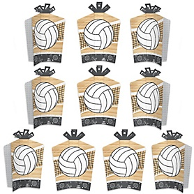 Bump, Set, Spike - Volleyball - Table Decorations - Baby Shower or Birthday Party Fold and Flare Centerpieces - 10 Count