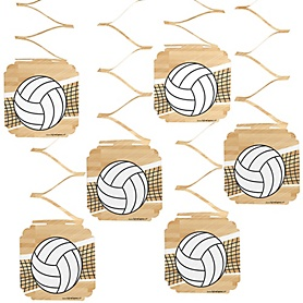 Bump, Set, Spike - Volleyball - Party Hanging Decorations - 6 ct