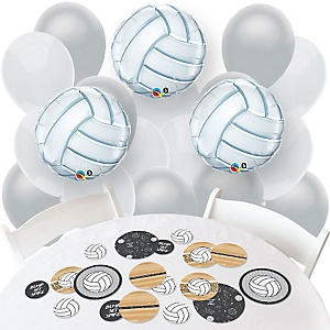 Bump, Set, Spike - Volleyball - Confetti and Balloon Party Decorations - Combo Kit