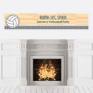 Bump, Set, Spike - Volleyball - Personalized Party Banners