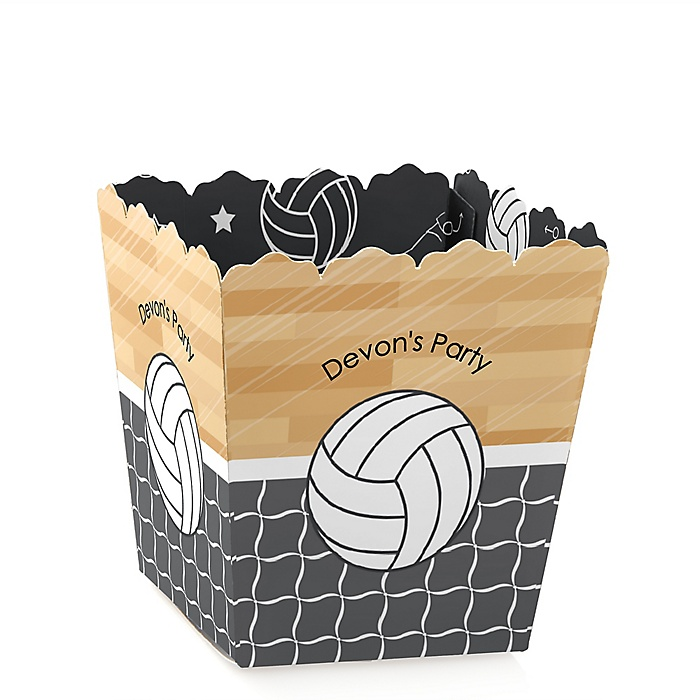 Bump, Set, Spike - Volleyball - Party Mini Favor Boxes - Personalized Party Treat Candy Boxes - Set of 12