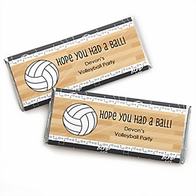 Bump, Set, Spike - Volleyball - Personalized Candy Bar Wrappers Party Favors - Set of 24