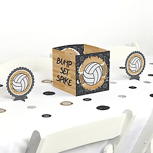 Bump, Set, Spike - Volleyball - Baby Shower or Birthday Party Centerpiece and Table Decoration Kit