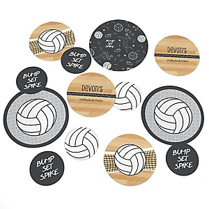 Bump, Set, Spike - Volleyball - Personalized Baby Shower Table Confetti - 27 Count