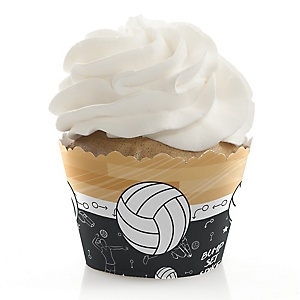 Bump, Set, Spike - Volleyball - Party Decorations - Party Cupcake Wrappers - Set of 12