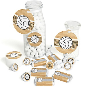 Bump, Set, Spike - Volleyball - Baby Shower or Birthday Party Decorations Favor Kit - Party Stickers & Tags - 172 pcs